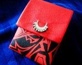 crimson red cigarette pouch leather cip012