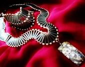 agate brass bracelet and necklace set - Clea bge013