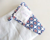 Sweater Bag in White and Flowered Cotton