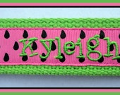 Custom Personalized Key Fob Key Chain with Name You Design Choose from 15 Fonts