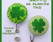 St. Patrick's Day Shamrock Retractable Badge Reel Id Holder Lanyard
