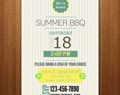 Customizable Summer BBQ Party Invitation / any summer event