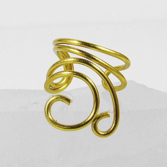 Ear Cuff - Gold Mini Swirls