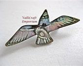 Glistening Abalone Seagull Brooch/Pin