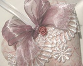 Pink Lavender Sachet Heart with Ribbon & Lace