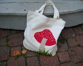 Home for a Gnome:  Eco-Friendly Appliqued Tote