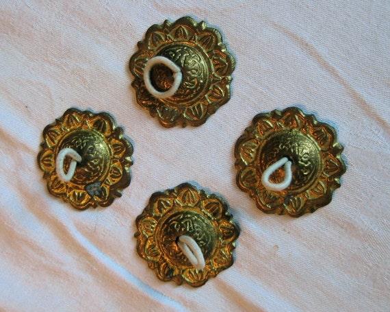 Vintage Brass Finger Cymbals - Zills - Syrian - Sweet Sound - Bellydance