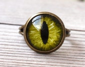 Green Evil Eye Ring