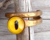 Yellow Eye Ring - size 6