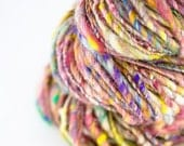 Hand spun art yarn - Wild Honey