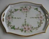 Antique CT Altwasser HandPainted Porcelain Dresser Tray made in Germany 1880-1920