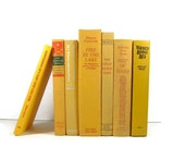 Sunflower Yellow Collection Vintage Decorative  Books for Wedding Decor Home Decor Photography Prop
