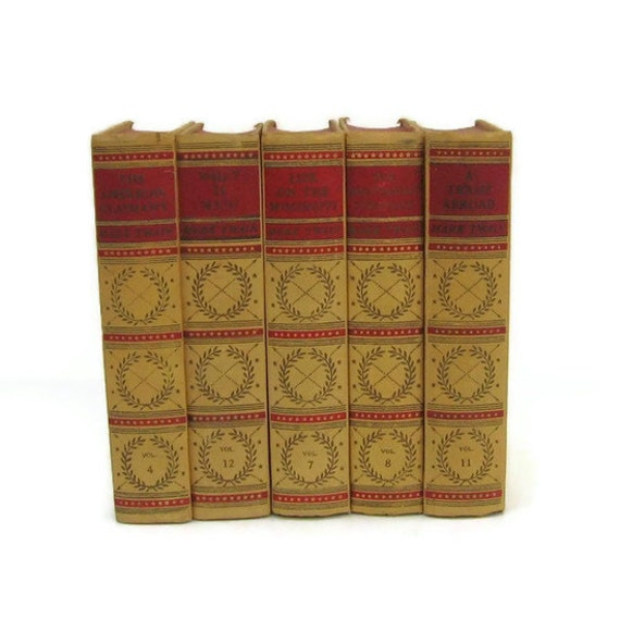 Yellow Collection Vintage Books by Color Instant Collection of Decorative Books for Wedding Decor, Home Decor, and Photography Prop