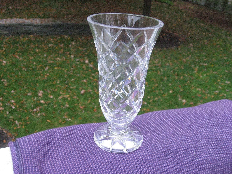 Vintage Waterford Crystal Vase Lismore Pattern Marked