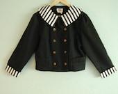 stripped wednesday addams jacket. L.