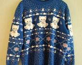 cat sweater. m/l.