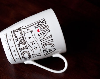 Hand-painted Custom Names Mug