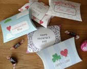 Valentine Pillow Boxes...Made to order with your child's name for class party...30 qty.