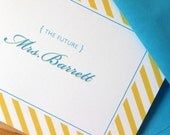 Set of 40 / Future Mrs. - Engagement Blank Folded Notecards / Thank You Notes
