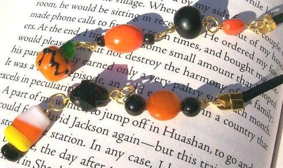 HALLOWEEN SALE Pumpkinhead bookmark book thong