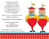Tweedledee and Tweedledum Printable Baby Shower Invitation