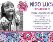 Flowery Birthday Invitation (printable)