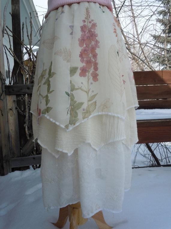 Pixie, Faery Skirt, Sheer, layered, The Love Letter Series