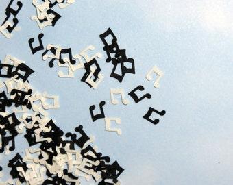 Music Note Confetti Symbol 700 Pieces Black White