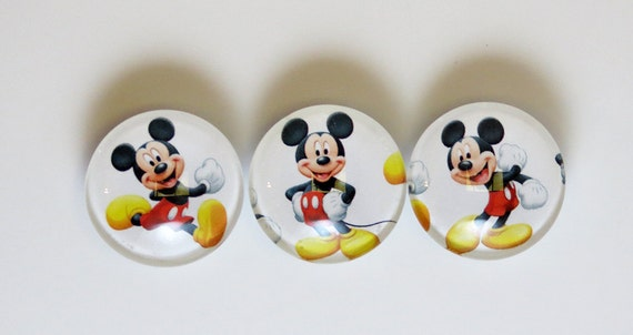 Mickey Mouse Magnet Glass Set of 3