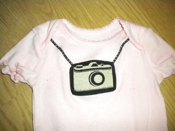photographer camera onesie