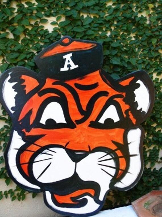 Vintage Auburn Tigers Sign Decorative Wreath by