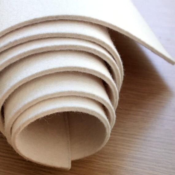1 2 Yard Industrial Wool Felt 3mm Natural White