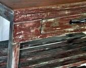 Upcycled Kitchen Cart/ Island. Vintage Shabby Chic Server