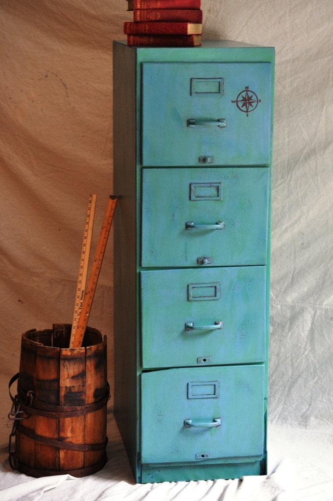 Wooden File Cabinets. File Cabinet Ideas Green Wooden File ...