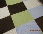 Minky dot quilt blanket you choose colors