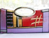 Hand -painted Clutch The Hash Tag Bag by LisaLesa