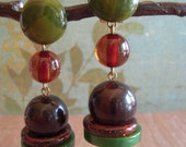 Satellite Bakelite Earrings