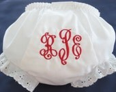 Classic Monogrammed Bloomers for baby girl