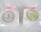 Monogrammed Burp Cloth Set of Two Coordinating Burpies