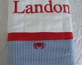 Monogrammed Burp Cloth / Burpie for Baby Boy