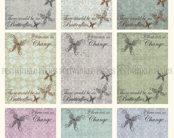 A Butterfly Change Vintage - atc/aceo Printable Cards