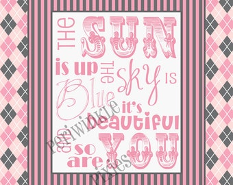 Dear Prudence... The Beatles Typography Printable 16 x 20 with fun border