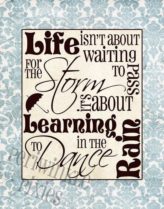 Life in the Rain Typography Printable