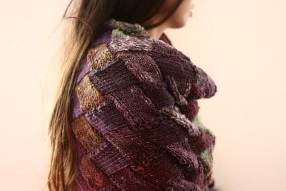 Painted Desert wrap - purple, lime, maroon, white, brown