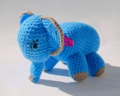 Crochet elephant handmade toy amigurumi traditional animal plush