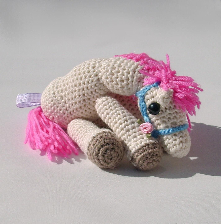 Crochet Doll Animals : Items similar to Crochet horse toy amigurumi animal plush ...