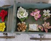 Vintage Capodimonte Handmade Flowers 8 pcs. - FREE SHIP USA