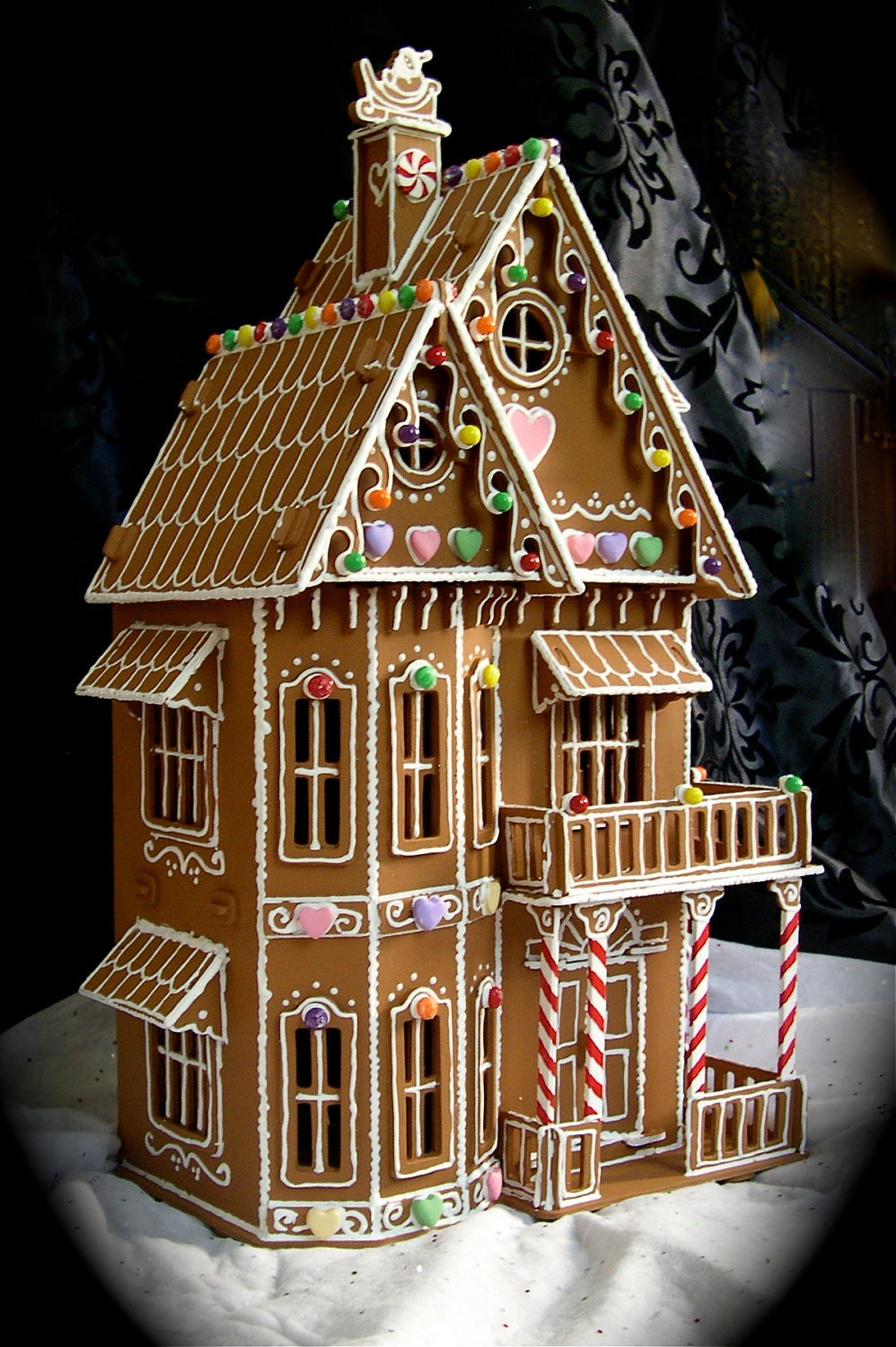 Faux Gingerbread House In The Victorian on English Tudor Cottage Glass