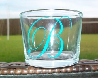 Personalized votive candle holder