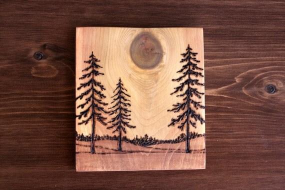 Horizons Art Block Woodburning
